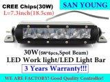 Lámpara de trabajo del automóvil de la lámpara LED del bulbo LED de la luz LED del coche de la luz 7inch 30W LED del punto del LED