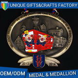 Ribbon Medallionのドイツ語のための3Dか第2 Customized Souvenir Medals