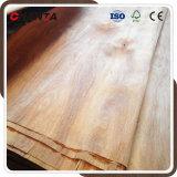 folheado de madeira natural da face de 0.30mm Gurjan para a madeira compensada
