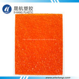Orange Polycarbonate PC Diamond Solid Panel para Decoração