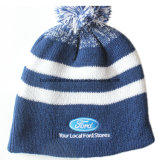 O produto da fábrica de China personalizou o Beanie Snappy do Knit do jacquard do logotipo