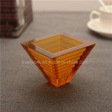Natürlicher Farben-Kristallglas-Kerze-Halter