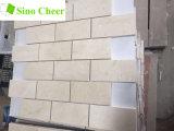 Precio de piedra natural del azulejo de la pared del mosaico del ladrillo de España Crema Marfil