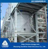 化学工業のための鋼鉄の梁が付いている鉄骨構造の構築