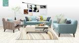 Софа ткани голубого цвета самомоднейшая, мебель дома просто конструкции (M617)