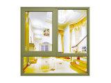 別荘のための高品質のアルミニウム畏Windows、カスタマイズされた多彩な上のハングさせた二重ガラスのガラス窓