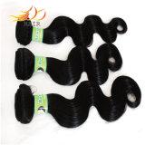capelli umani naturali di Remy di alta qualità 7A dei capelli umani dell'onda brasiliana del corpo