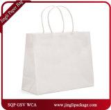 Sacs à provisions blancs de sacs en papier blancs de Papier d'emballage