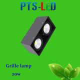 Cabeza alta calidad 2 LED Rejilla 20W Foco LED lámpara de la parrilla