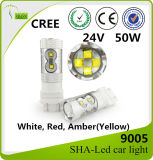 Indicatore luminoso 1156 dell'automobile del CREE LED di alto potere 50W 1157 9005