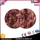 Monete animali antiche di sfida di placcatura 3D di tono del metallo due