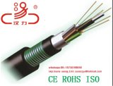 De vastgelopen Losse Optische Kabel van de Vezel van de Buis met het Pantser van de Band van het Staal (GYTS)