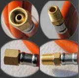 고압 덮개 섬유 땋는 PVC 아르곤 가스관