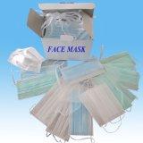 maschera di protezione non tessuta a gettare 3ply con l'orecchio Loop&Tie sopra