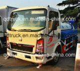 1200 galones de agua, HOWO camiones karts 4~5cbm 4X2 de agua pequeña cesta