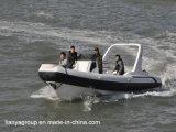 Bateaux gonflables rigides de marine de Hypalon de bateau de côte de sport de Liya 24.6FT