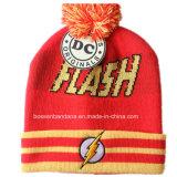 I prodotti della fabbrica hanno personalizzato il cappello del Beanie del pattino di inverno del Knit del jacquard del nero del fumetto di disegno