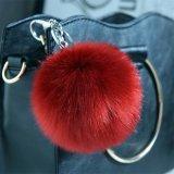 De goedkope Bal Keychain van het Bont van de Vos Faux voor 1015cm