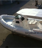 Fabricante del yate de la cabina del barco de placer de los barcos de la costilla de Liya los 27ft China
