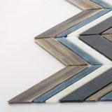 Серый с рисунком стеклянной мозаики плитки для камина стены на кухне