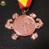 カスタム記念品のギフトの金属3D青銅色の軍メダル