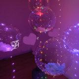 """크리스마스 새로운 훈장 18 """" 투명한 헬륨 Bobo 풍선 + LED 끈 빛"""