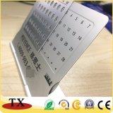 Calendário perpétuo da mesa do metal da alta qualidade com tâmara e meses
