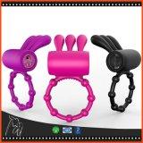 O anel de vibração impermeável do pénis do silicone do anel da torneira com as 7 modalidades Clitoral estimula brinquedos do sexo do Massager para pares