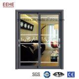 Puertas de entrada de cristal de la hoja doble de aluminio exteriores