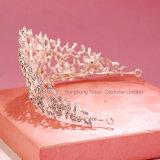 Высокое качество волос украшения Big Silver устраивающих свадьбу короны&Tiara романтический дизайн яркий Rhinestone Crystal невесты группа