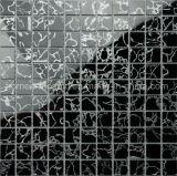 Hot Sale élément garni de forme carrée de l'argent motif mosaïque de verre