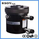 huile hydraulique double effet piston creux de 200 tonnes de vérin