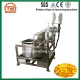 Huile de pommes chips retirant la machine