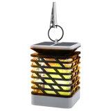 La pendaison Décoration Lampe LED solaire pour le sentier de la flamme