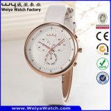 Reloj de la mujer del cuarzo de la correa de cuero de la manera (Wy-091D)