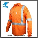 Chemise de travail de foret de coton de sûreté de force de Mens salut