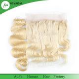 Trama frouxa do cabelo humano do fósforo do cabelo do fechamento da onda do cabelo peruano da cor 613#