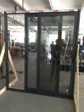 Porte coulissante en aluminium personnalisée par qualité de vente chaude d'hôtel avec le double vitrage
