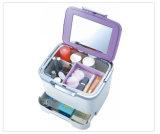 Qualitäts-kosmetischer Organisator-Verfassungs-Plastikfall mit Spiegel