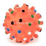 Het Speelgoed van het huisdier met de Correcte RubberBal van het Stuk speelgoed van de Hond Piepende