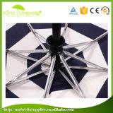 Компактная модель 190t Pongee для 21дюйма поездки ТЕБЯ ОТ ВЕТРА зонтик