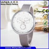 Reloj clásico del asunto del reloj del acero inoxidable (Wy-091C)