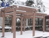 Compuesto de plástico madera WPC Quad Pavilion para uso exterior