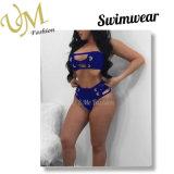 Нажмите вверх высокий костюм Swim шкафута плюс поставщик одежды Swimwear Srting размера