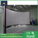シミューレーション・システムのためのX-YスクリーンChk80bの多重チャンネルの大きいフォーマットの曲げられた映写幕