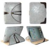대를 가진 iPad를 위한 맨 위 층 쇠가죽 상자