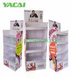 Enregistrer l'étalage de carton, crémaillère d'étalage d'étage de carton avec l'impression polychrome