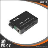 Convertisseur de supports à fibre 10/100/1000BaseT(X) à 1000MBase-BX BIDI T1310/R1550nm SC 40km fibre unique