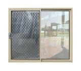 Puerta de vidrio de desplazamiento de lujo de las puertas de la casa con la red y la parrilla del acero inoxidable