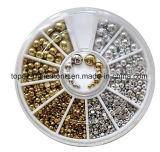 La perla d'argento del chiodo a metà intorno all'imitazione dell'ABS del mestiere imperla la decorazione del chiodo dei branelli DIY dell'album (rhinestone del chiodo dell'TP-argento)